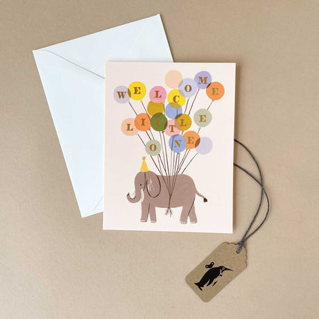 Welcome Elephant Greeting Card - Greeting Cards - pucciManuli