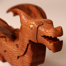 Load image into Gallery viewer, Wooden 3-D Deluxe Dragon Puzzle Leopardwood - Puzzles - pucciManuli