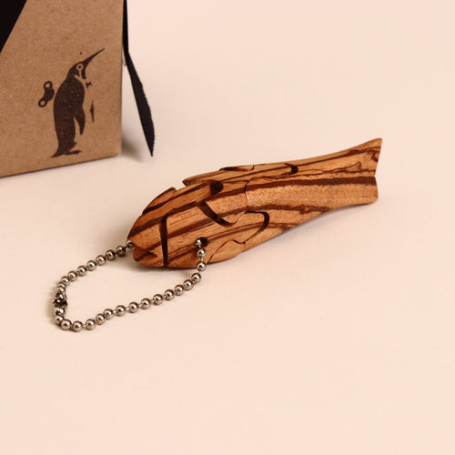 Wooden 3-D Fish Puzzle Keychain - Puzzles - pucciManuli