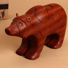 Load image into Gallery viewer, Wooden 3-D Grizzly Bear Puzzle - Puzzles - pucciManuli