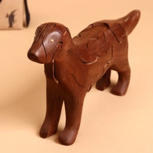 Load image into Gallery viewer, Wooden 3-D Labrador Puzzle Walnut - Puzzles - pucciManuli