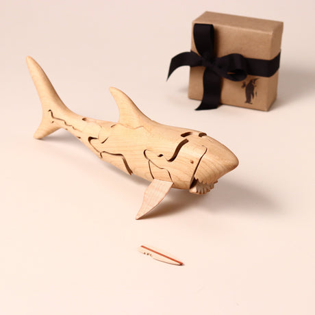Wooden 3-D Shark Puzzle Maple - Puzzles - pucciManuli
