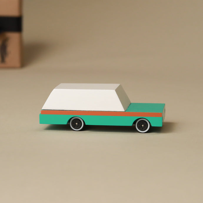 Wooden Candy Wagon - Teal - Pretend Play - pucciManuli