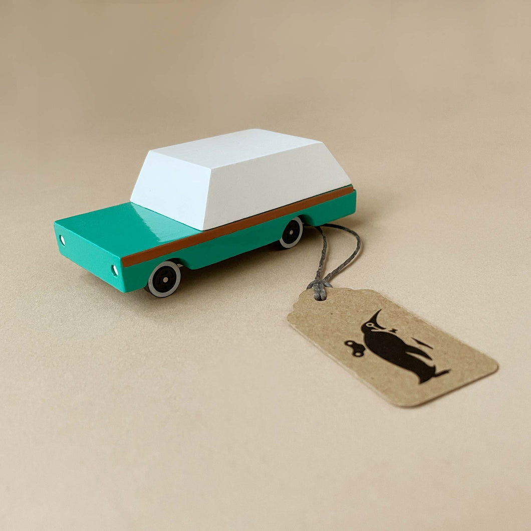 Wooden Candycar | Teal Wagon - Pretend Play - pucciManuli