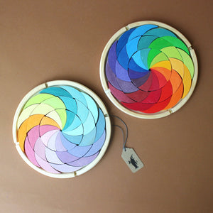 two-wooden-color-wheel-building-sets-in-pastel-and-bright-colors