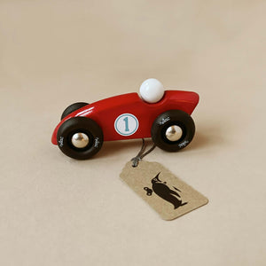 red-wooden-competiton-car-with-blue-number-1
