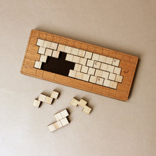 Load image into Gallery viewer, wooden-keyboard-puzzle-in-medium-wood-frame-and-light-wood-keys