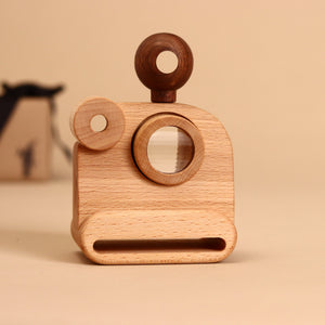 Wooden Polaroid Camera Kaleidoscope - Pretend Play - pucciManuli