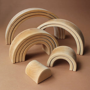 Wooden Rainbow | Large (12 pc) - Building/Construction - pucciManuli