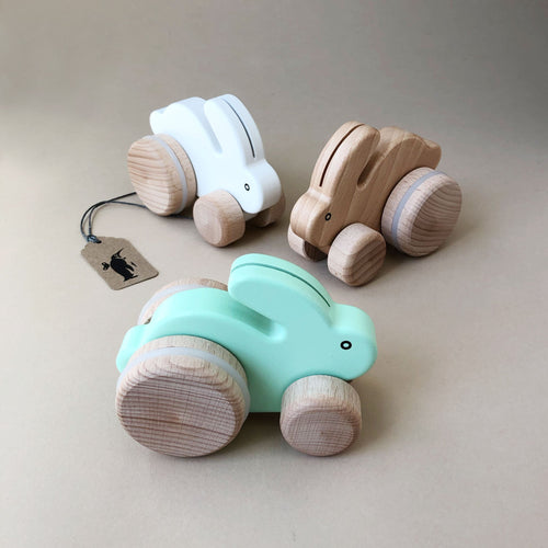 Wooden Roller Rabbit - Baby (Toys) - pucciManuli