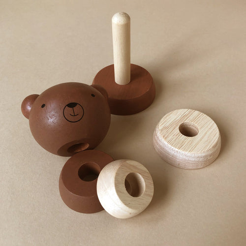 Wooden Stacker | Bear - Baby (Toys) - pucciManuli