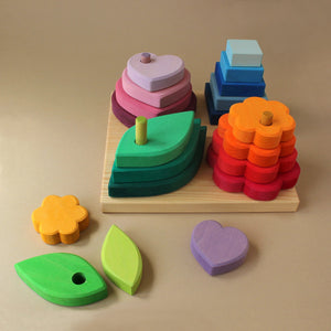 Wooden Stacking Game | Shapes - Baby (Toys) - pucciManuli
