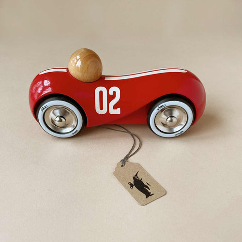 Wooden Vintage Streamline Car | Red - Building/Construction - pucciManuli