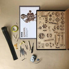 Load image into Gallery viewer, Wooden Wind-Up Vitascope Mechanical Model - Arts & Crafts - pucciManuli