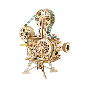 Wooden Wind-Up Vitascope Mechanical Model - Arts & Crafts - pucciManuli