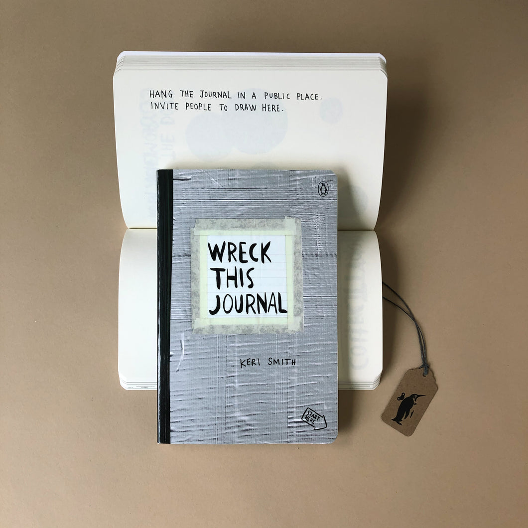 Wreck-This-Journal-Duct-Tape-Style-Front-Cover-and-Inside-Question-by-penguin-random-house