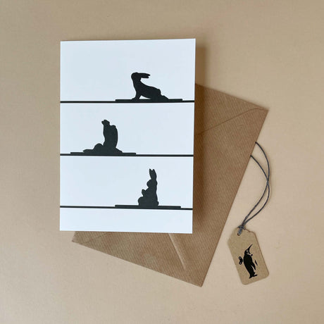 Yoga Rabbit Greeting Card - Greeting Cards - pucciManuli