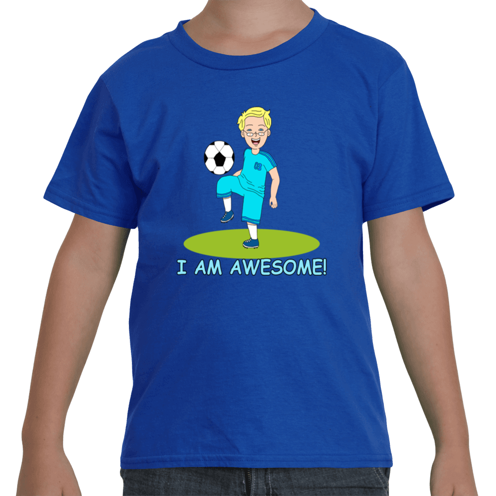 I Am Awesome White Soccer Player