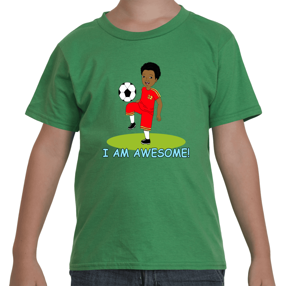 I Am Awesome Black Soccer Player