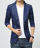 Slim Denim Blazer