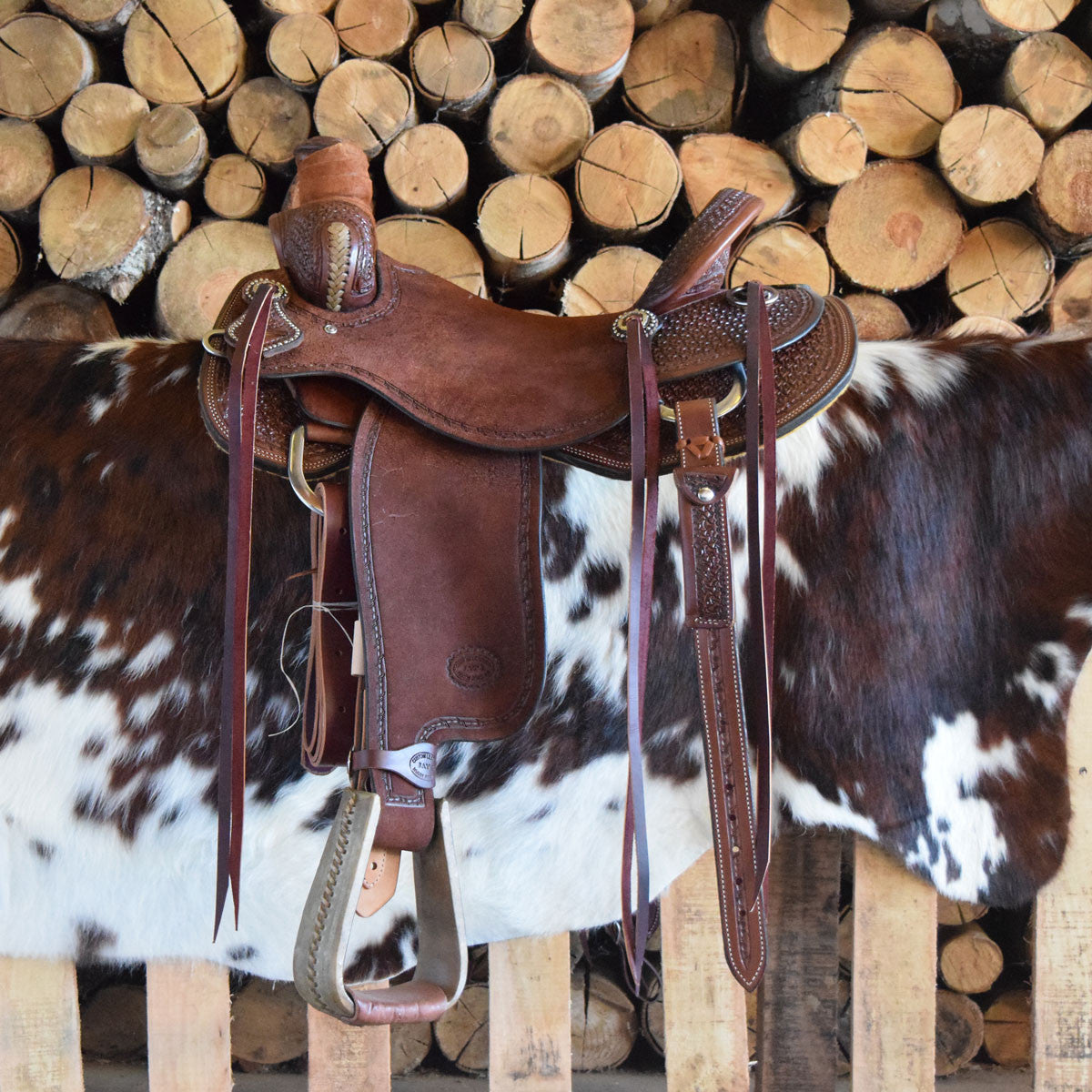 A custom leather Roper/Ranch/Cutter Saddle by Jay's Saddles in Tennessee