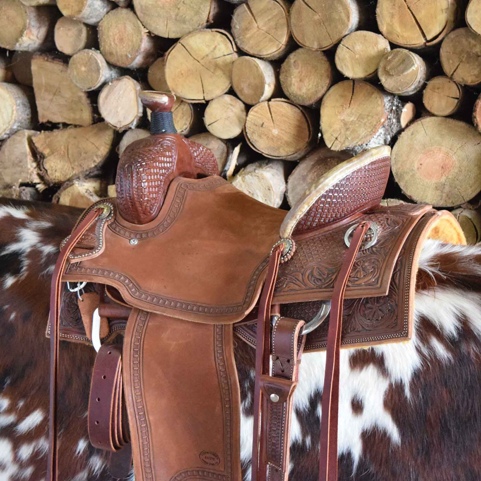 A custom leather Ranch Saddle by Jay's Saddles in Tennessee