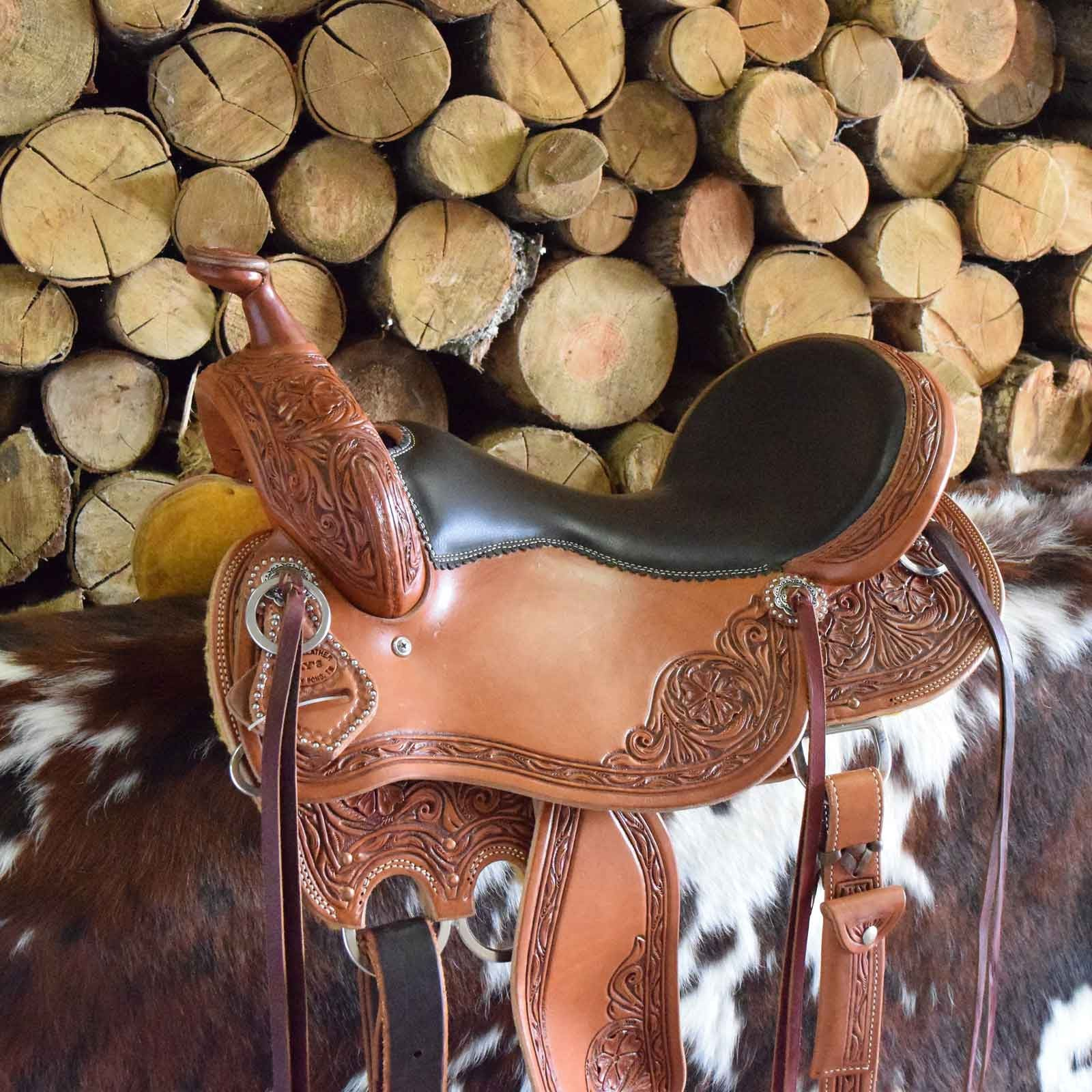 Custom leather Cowboy Saddle by Jay's Saddles in Tennessee