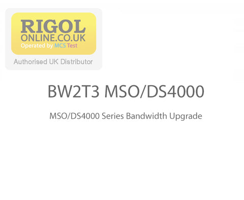 Rigol BW2T3-MSO/DS4000 Series Bandwidth Upgrade Licence