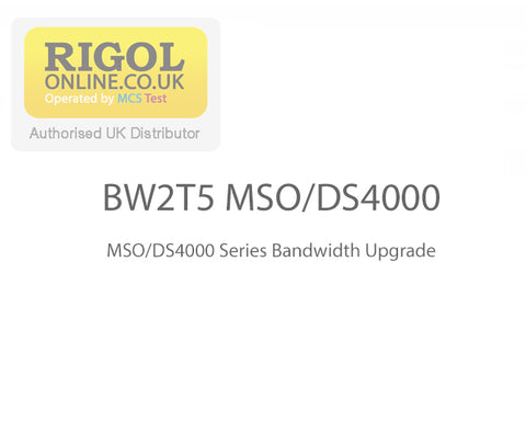 Rigol BW2T5-MSO/DS4000 Series Bandwidth Upgrade Licence