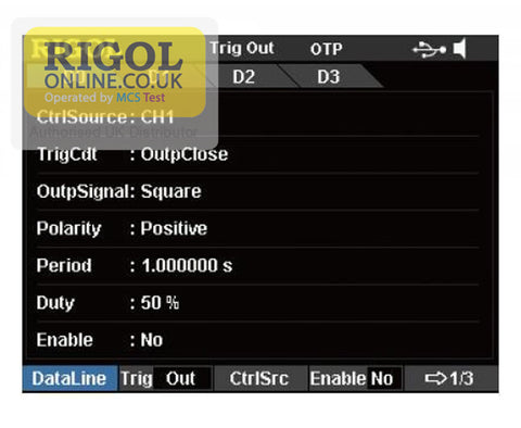 Rigol DIGITALO-IO-DP800 Trigger Channels Licence