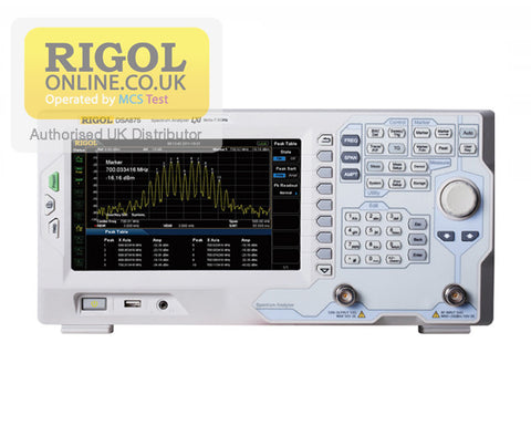 Rigol DSA875 7.5 GHz Spectrum Analyser