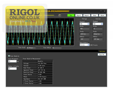 Rigol UPA Ultra Power Analyser PC Software Licence