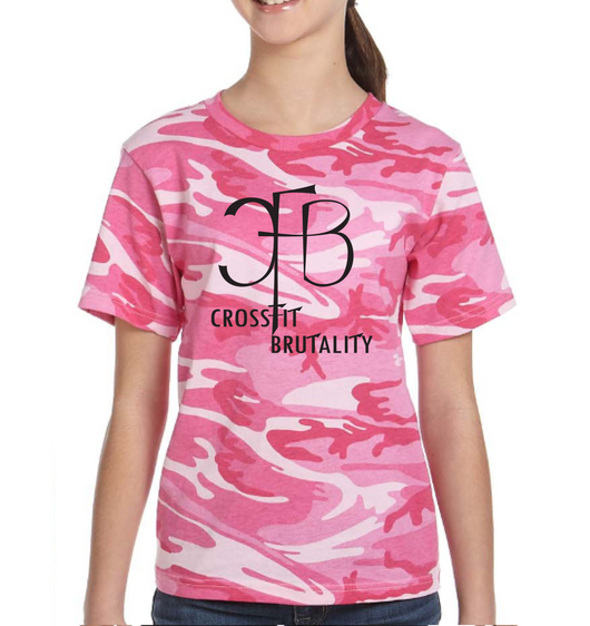 (Crossfit Brutality) 2206 Code Five Youth Camo T-Shirt  Pink YOUTH