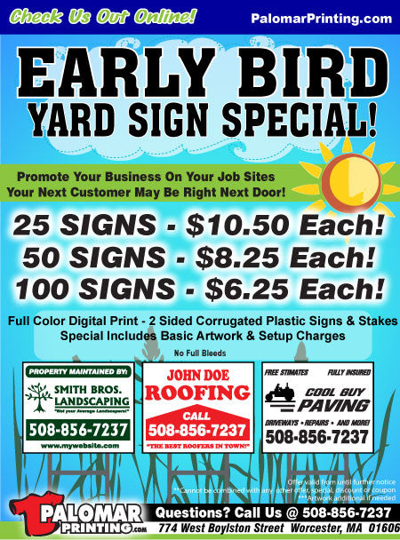 custom printed yard signs