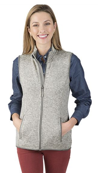 MCPHS WOMEN'S PACIFIC HEATHERED VEST
