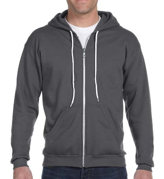 (Crossfit Brutality) 71600 Anvil Adult Full-Zip Hooded Fleece