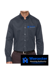 Ash City - Core 365 Men's Operate Long-Sleeve Twill Shirt.  Embroidered Left Chest