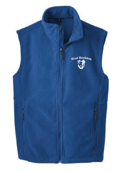 WB Adult Full Zip Fleece Vest
