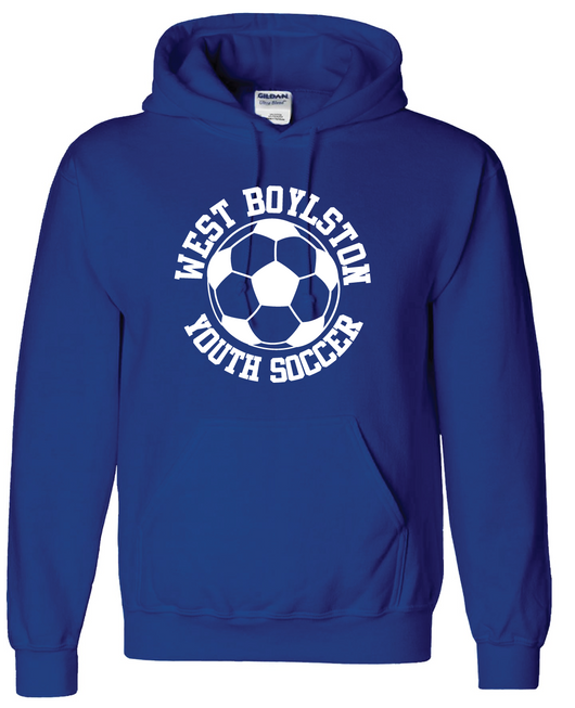 WBYS G185  (ADULT)  royal blue hooded sweatshirt