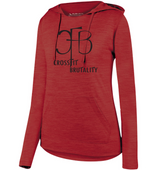 (Crossfit Brutality)  AG2907 Augusta Sportswear Ladies' Shadow Tonal Heather Hoodie