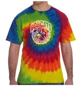 (Boylston Bobcats) Tie-Dye Short Sleeve Shirt- ADULT CD100