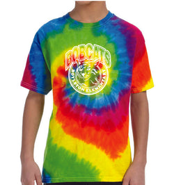 (Boylston Bobcats) Tie-Dye Short Sleeve Shirt- YOUTH CD100y
