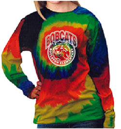 (Boylston Bobcats) Moondance Long sleeve tie-dye YOUTH CD200y