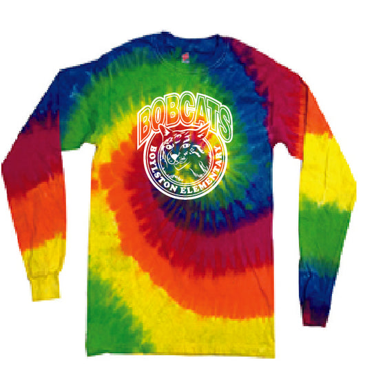 Copy of (Boylston Bobcats) Moondance Long sleeve tie-dye YOUTH CD200b