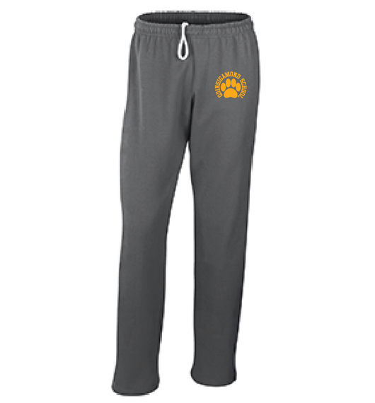 (Quinsigamond Store) Open Bottom Dark Heather Grey sweat pant -  Paw
