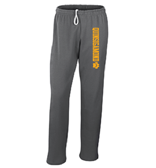 (Quinsigamond Store) Open Bottom Dark Heather Grey sweat pant -  Quinsigamond