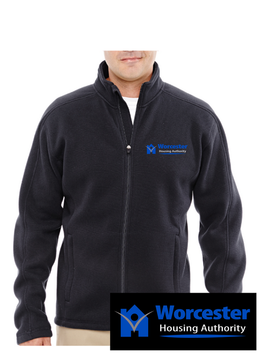 Prime Devon & Jones Men's Bristol Full-Zip Sweater Fleece Jacket.  Embroidered Left Chest