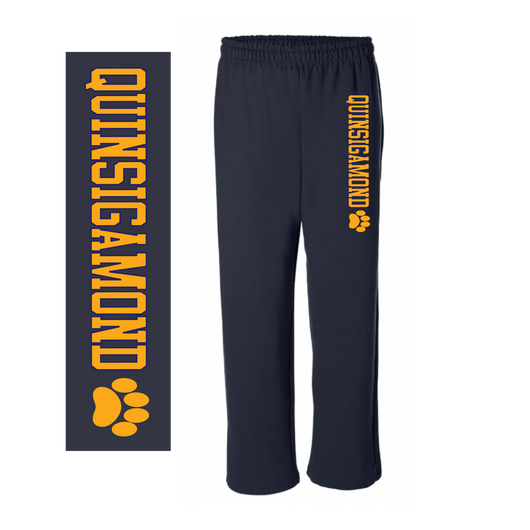 QCC- G184 Navy blue ADULT open bottom sweatpants