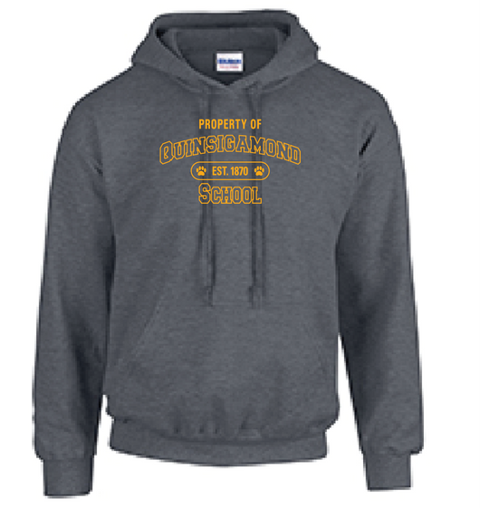(Quinsigamond Store)  Dark Heather Grey Hoodie -  Property Of