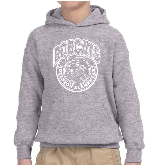 (Boylston Bobcats) Sport Grey Hooded Sweatshirt- YOUTH G185b